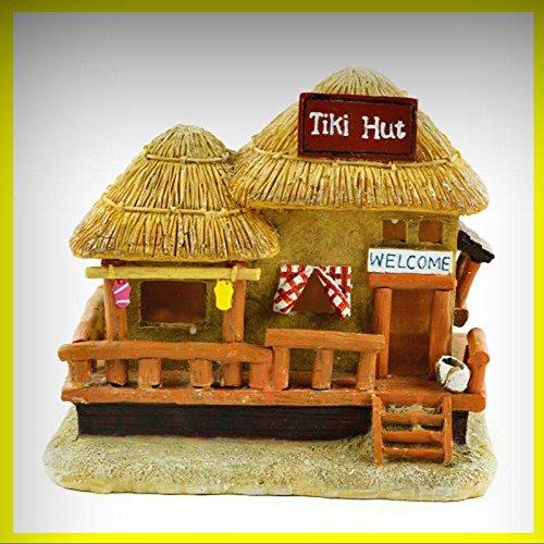 Fairy Garden Fun LED Lighted Tiki Hut Fairy House - My Mini Fairy Garden Dollhouse Accessories for Outdoor or House Decor
