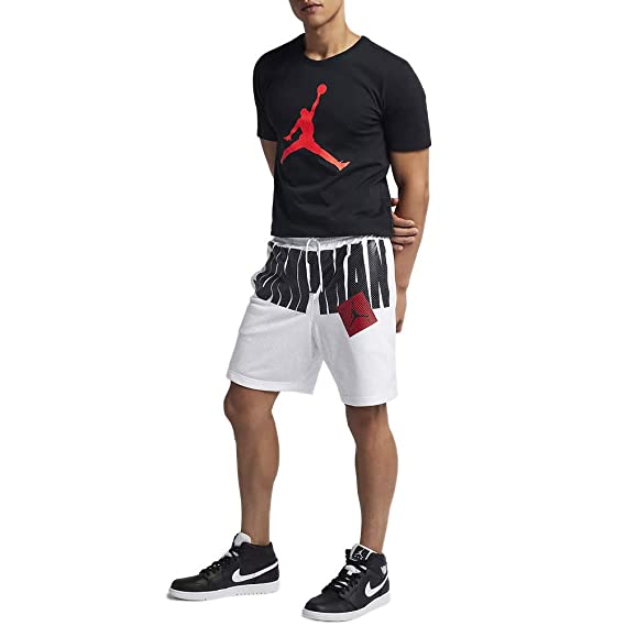 a285c87c8cd Jordan Shorts - Sportswear Aj Jumpman Air Mesh White Size: XS (X-Small):  Amazon.co.uk: Clothing