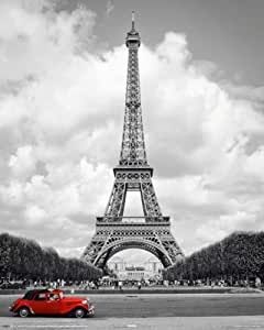 Empire 523365 - Póster de la Torre Eiffel, París (40 x 50 cm), blanco y negro
