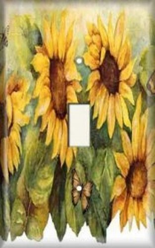Sunflower Toggle - Decorative Light Switch Plate Cover - Sunflower