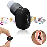 Bluetooth Headphone Wireless Stereo Mini Headset In Ear Earphone Invisible Bluetooth Earbuds Long Talking Time Handsfree for Android Samsung Galaxy Note 4 5 S8 S7 S6 iPhone 5S 6 7 Plus 8 Tablets Black