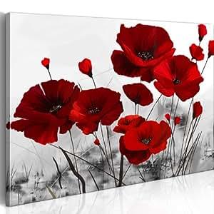 Cuadro 100x70 cm - 1 parte - Impresion en calidad fotografica - Cuadro en lienzo tejido-no tejido - flores 0107-12 100x70 cm