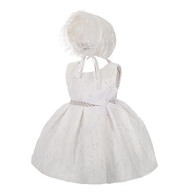 2c9b04e2900 Lito anges Bébé filles Dentelle Diamante Baptême baptême robe de mariage  fleur fille robe Bonnet Taille
