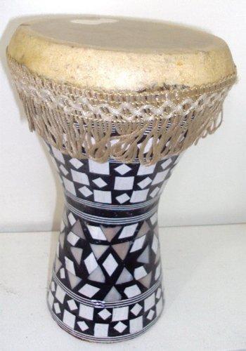 1pcs Medium Egyptian Wooden Tabla Drum Doumbek Goat Skin Inlaid Handmade 8'' (425) by bonballoon