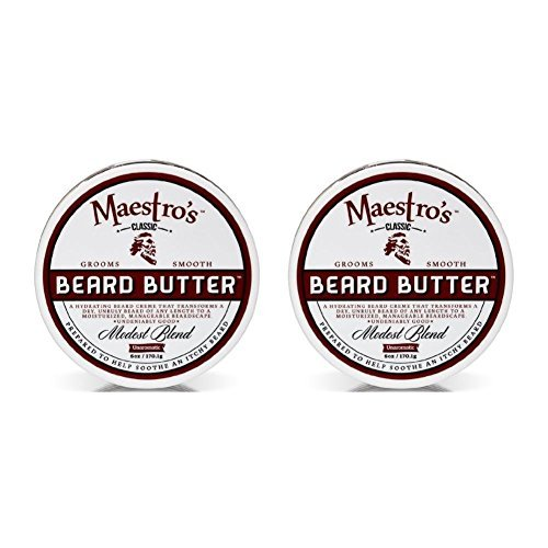 Maestro's Classic Modest Beard Butter, 6 Ounce by Maestro's Classic