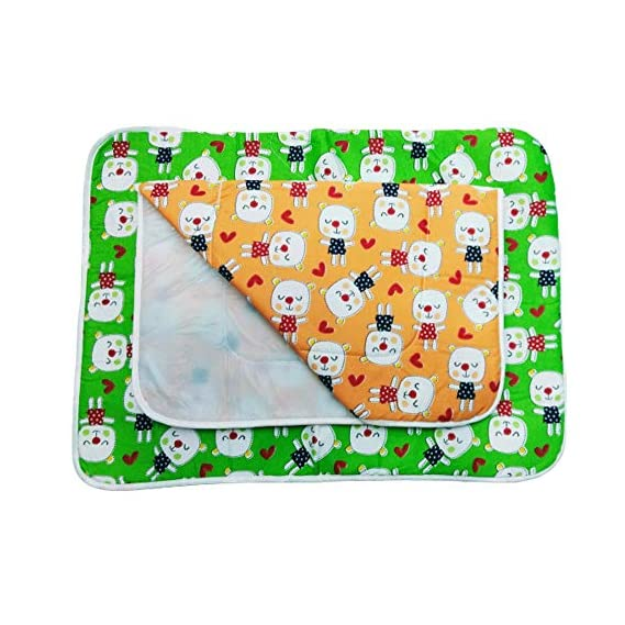 Dazzlia Baby Diaper Changing mat/Bed Protector/Godadi Multi Color (Combo 2)