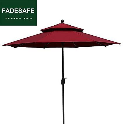 Amazon.com: EliteShade Sunbrella Sombrilla de 9 pies para el ...