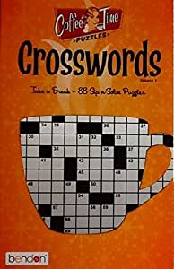 Coffee Time Crossword Puzzles Vol. 1 ~ Puzzle Book Volume 1