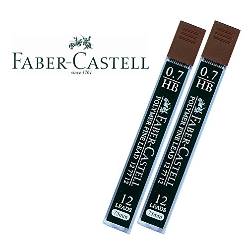 Faber-Castell Lead Refills 0.7mm HB Black 12 Leads [Pack of 2]