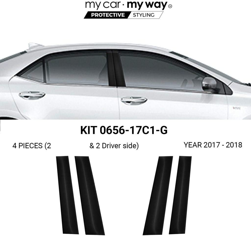 707 Motoring Fits 2015-2017 Hyundai Genesis Piano Glossy Black Pillar Posts Trim 6PCS