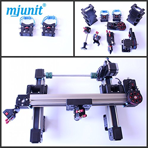 mjunit co2 laser cutting parts for 1390 laser rail one head belt drive guide