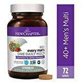 New Chapter Men's Multivitamin, Every Man's One Daily 40+, Fermented with Probiotics + Saw Palmetto + B Vitamins + Vitamin D3 + Organic Non-GMO Ingredients