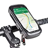 ROTTO Bike Phone Mount Bicycle Cell Phone Holder Handlebar Bag Anti-Shake Waterproof with 360° Rotation Three Sizes