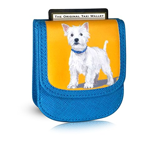 TAXI WALLET Westie Small VEGAN Folding Minimalist Card Wallet for Women Coin Purse (Westie Wallet)