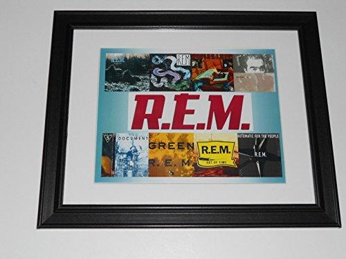 R.E.M. First 8 Albums Cover Poster 1983-1992 REM Framed Print 14
