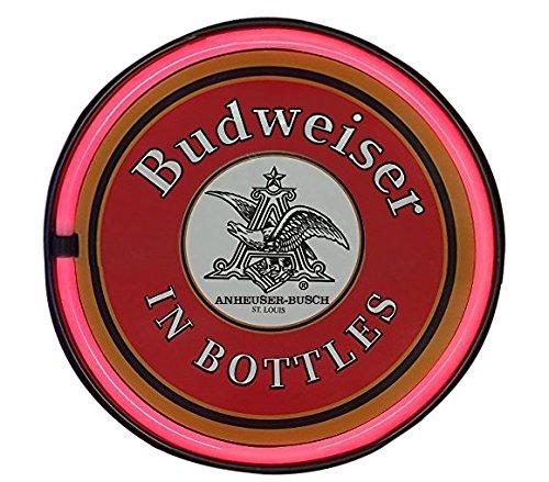 Budweiser Neon Bar Signs (Budweiser In a Bottle LED Sign, 12