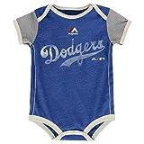 Los Angeles Dodgers Distressed Logo Infant Onesie Size 0-3 Months Bodysuit Creeper Blue