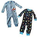 Little Me Baby 2 Pack Footies, Space Traveler, 12