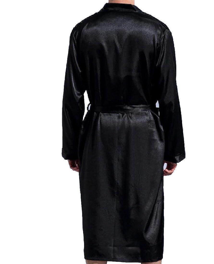 RDHOPE-Men Charmeuse Oversized Long-Sleeve Casual Loose Wrap Robe