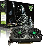 ViewMax NVIDIA GeForce GTX 1050 Ti 4GB GDDR-5 128-Bit PCI-E DUAL VORTEX GAMING COOLER DVI-D HDMI CYBORG ASSASSIN EDITION