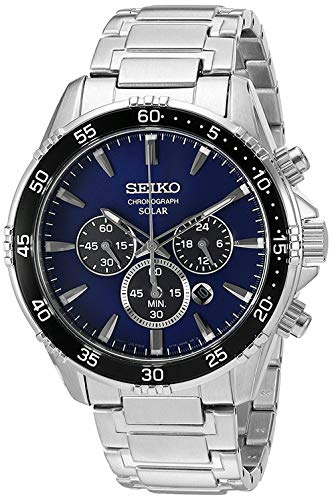 Seiko Men's 'Chronograph' Quartz Stainless Steel Dress Watch (Model: SSC445)