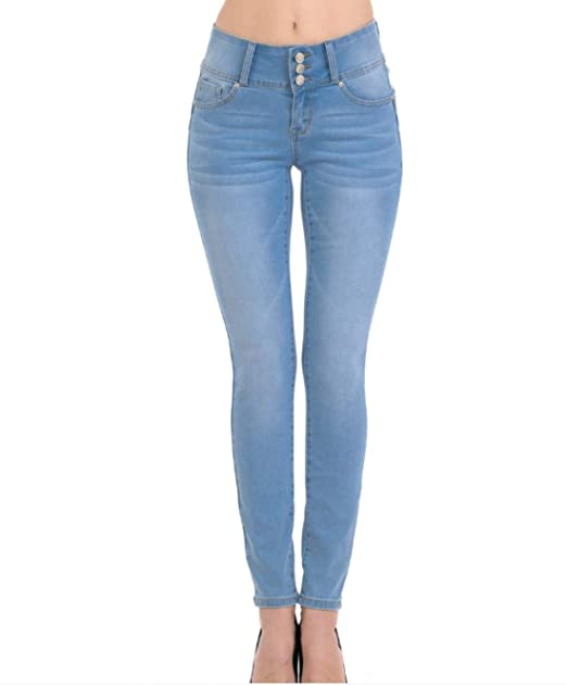 Amazon.com: Wax Push-Up 3 Botón Skinny True Stretch Jean ...