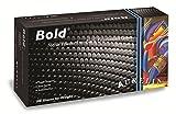 Aurelia 73990 Bold Black Nitrile Powder Free Examination Gloves, Pack of 1000; Size 2XL