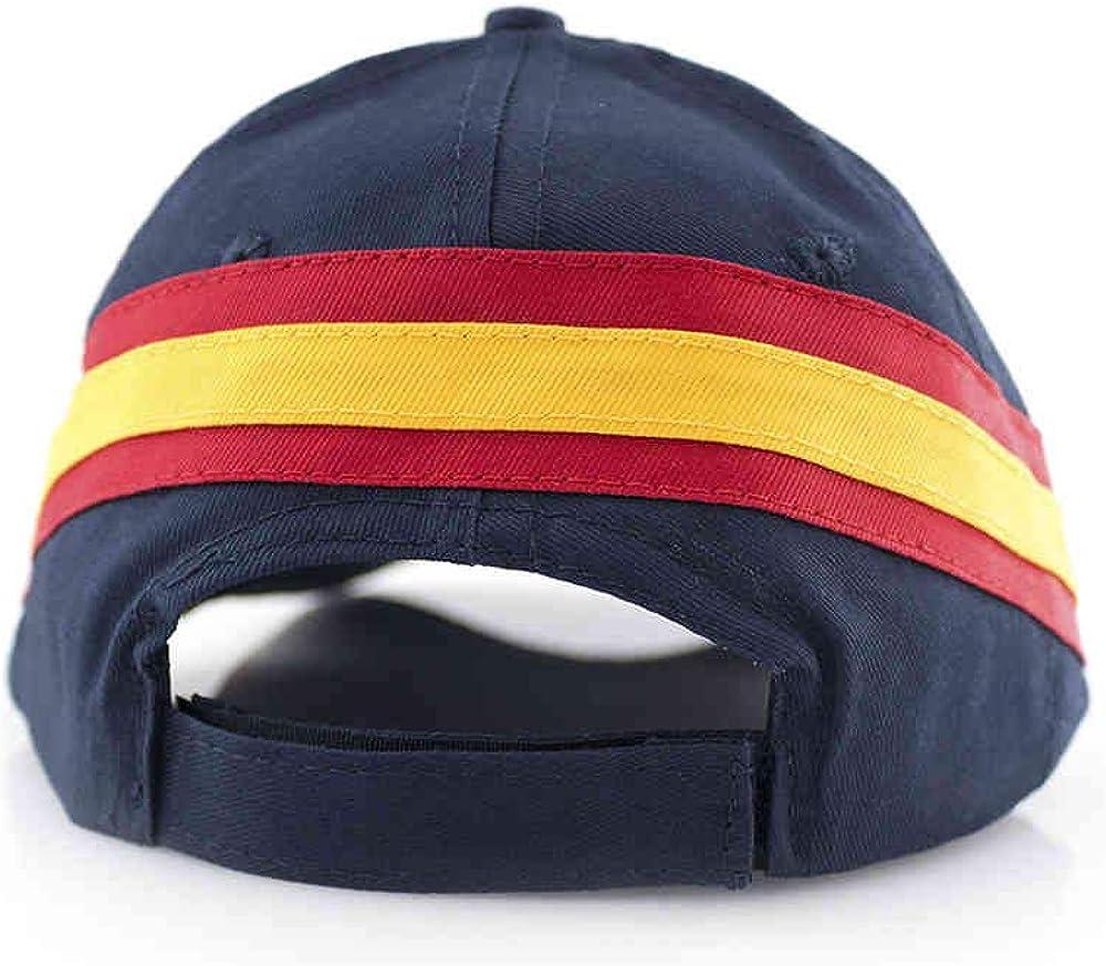 Dos Gorras Beisol Azul Marino- Bandera ESPAÑA- Clasica Gorra ...