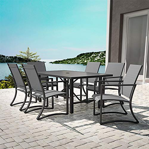 Outdoor Dining - Cosco Outdoor Living 88680LGCE Outdoor Living Dining Set, Charcoal