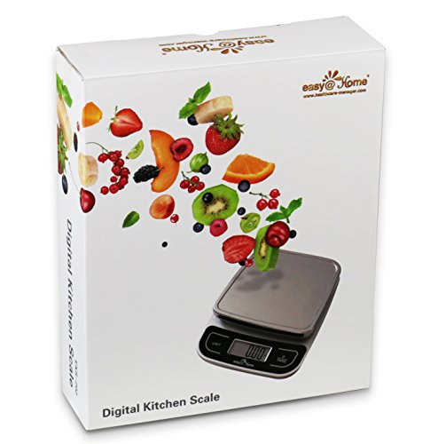 Easy@Home Digital Multifunction Kitchen and Food Scale with High Precision to 0.04oz and 11 lbs capacity