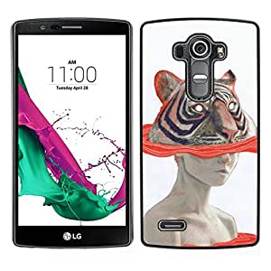 // PHONE CASE GIFT // Duro Estuche protector PC Cáscara Plástico Carcasa Funda Hard Protective Case for LG G4 / Art Woman Drawing Watercolor /