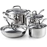 Cook N Home 02606 8-Piece Stainless Steel Cookware Set Silver