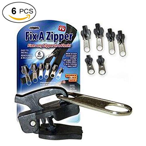 Coolcycling 6 Pack Zipper Replacement Universal Zipper Repair Kit Universal Zipper Head Zipper Tool