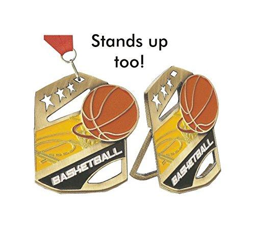 Cobra de baloncesto medalla con rojo, blanco, y azul cuello lazo ...