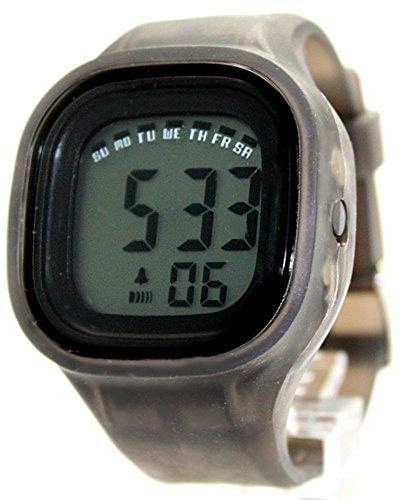 Gray Chronograph Alarm (Alexis Unisex Digital Watch Gray Soft Silicone Strap Gray Dial Alarm Chronograph Backlight 358C)