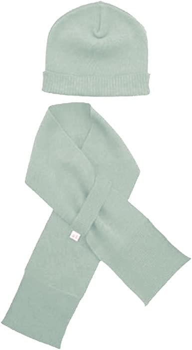 for Babies and Toddlers Merino Kids Hat and Scarf Grey