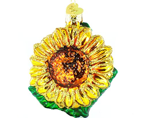 Old World Christmas Garden Sunflower Glass Blown Ornament Flowers Christmas Ornament