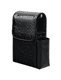 xhorizon TM SR Leather Sliding Cigarette Case Wallet with Lighter Holder and Belt Loop