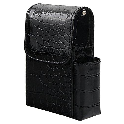 E Accendino Con Cintura Pelle Porta Portasigarette B Stile Passante Nero In Per wXxq6