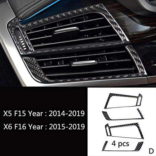 D Type Car Console Gear Shift Panel Air Outlet Front Reading Light Lamp Frame Panel Decorative Cover Trim Sticker for BMW X5 F15 X6 F16  (color Name  D Type)