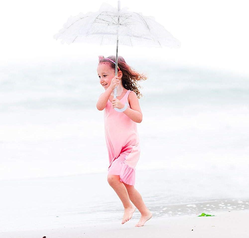 Uso de fotograf/ía de decoraci/ón de Fiesta de Boda para Mujer de Encaje de Dama Lazmin Paraguas de sombrilla de algod/ón de Encaje Nupcial