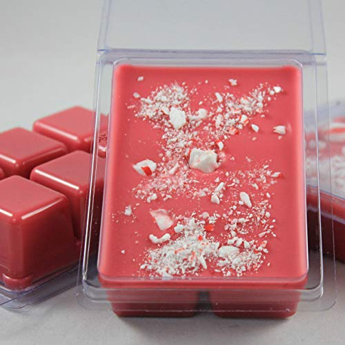(Candy Cane. Sweet Peppermint Candies. Soybean Blend Wax Melt. Hand Poured by Twisted Oaks Wax Works, Nebraska.)