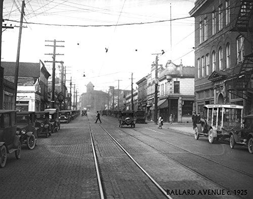 Ballard Avenue in Seattle, WA Photograph (9x12 Art Print, Wall Decor Travel Poster)