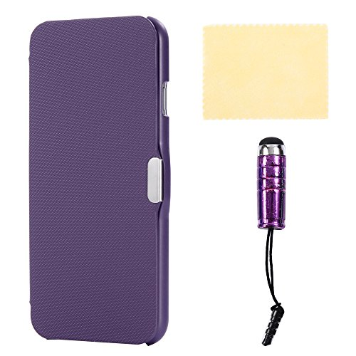iPhone 6s Case, DMaos 【Easy Pocket】 Apple IPhone 6 4.7 inch Twill Leather Smart Cover Ultra Thin Magnetic Closure Flip Slim Super Light (Purple, For iPhone 6/6s) (Slim Super Leather)