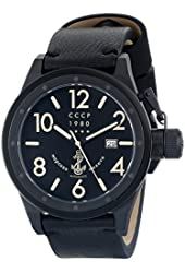 CCCP Men's CP-7017-09 Delta Analog Display Japanese Automatic Black Watch