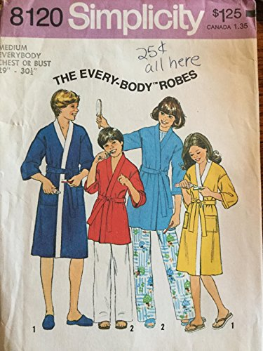 Vintage Simplicity Pattern 8120 The Every-body Robes - Medium 29-30 1/2 Chest