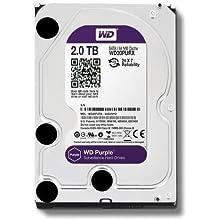 """WD Purple WD20PURX- Disco duro para videovigilancia (2 TB, Intellipower, SATA 6 GB/s, 64 MB de caché, 3.5"""")"""