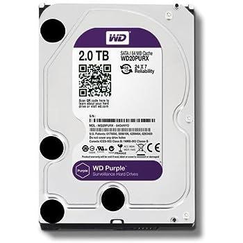 """64MB Buffer 5400RPM Western Digital Purple 2TB Surveillance Hard Drive 3.5/"""""""