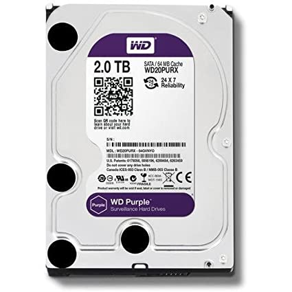 Amazon Com Wd Purple 2tb Surveillance Hard Disk Drive 5400 Rpm