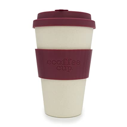14oz 400ml CupNature Maroonamp; Ecoffee Reusable Cream 3ARL54j